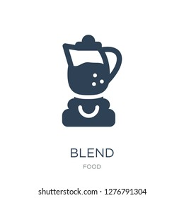 blend icon vector on white background, blend trendy filled icons from Food collection, blend vector illustration