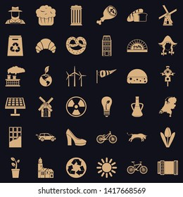 Blend icons set. Simple set of 36 blend vector icons for web for any design