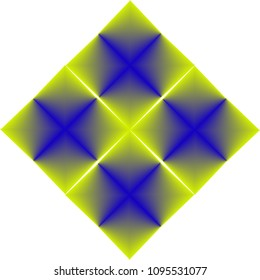 Blended Color Geometric Pattern