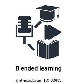 Blended learning icon vector isolated on white background for your web and mobile app design, Blended learning logo concept