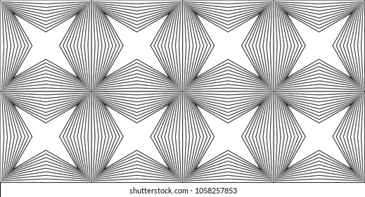 Blended Lines Geometric Pattern