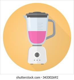 blender flat design icon