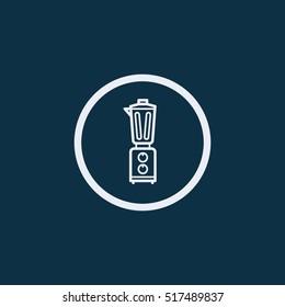 blender icon on dark blue background