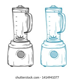 Blender on a white background. Vector illustration in sketch style.