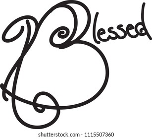 Blessed Hand drawn Typography