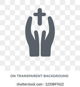 blessings icon. Trendy flat vector blessings icon on transparent background from United States of America collection. High quality filled blessings symbol use for web and mobile