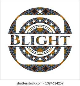 Blight arabesque emblem background. arabic decoration.