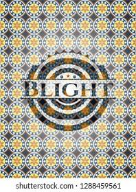 Blight arabesque style badge. arabic decoration.
