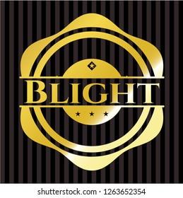 Blight gold shiny emblem
