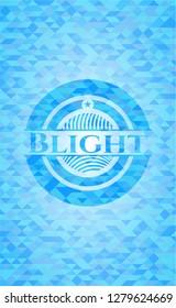 Blight light blue emblem. Mosaic background