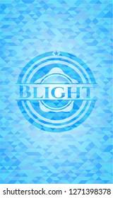 Blight realistic light blue mosaic emblem