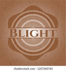 Blight wooden emblem