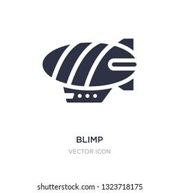 blimp icon on white background. Simple element illustration from Transport concept. blimp sign icon symbol design.