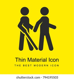 blind bright yellow material minimal icon or logo design