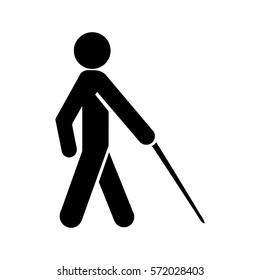 Blind Icon, Blind man walk icon