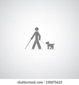 blind symbol on gray background