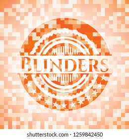 Blinders abstract orange mosaic emblem with background