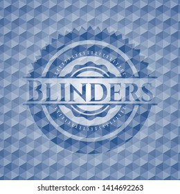 Blinders blue emblem with geometric pattern. Vector Illustration. Detailed.