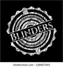 Blinders chalkboard emblem written on a blackboard