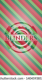 Blinders christmas badge background. Vector Illustration. Detailed.