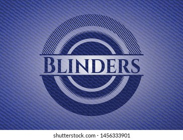 Blinders emblem with jean high quality background. Vector Illustration. Detailed.