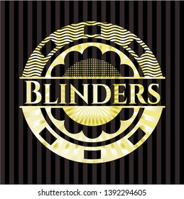 Blinders golden badge or emblem. Vector Illustration. Detailed.