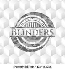 Blinders grey emblem with cube white background