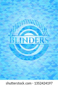Blinders light blue emblem with mosaic background