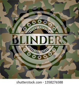 Blinders on camo pattern
