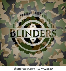 Blinders on camo texture