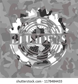 Blinders on grey camo pattern