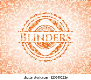Blinders orange mosaic emblem with background