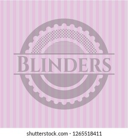 Blinders realistic pink emblem