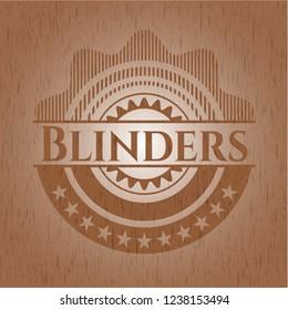 Blinders realistic wood emblem