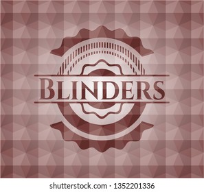 Blinders red seamless emblem or badge with geometric pattern background.