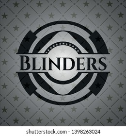 Blinders retro style black emblem. Vector Illustration. Detailed.