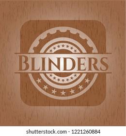 Blinders retro style wooden emblem