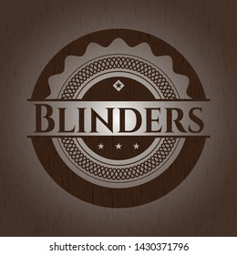 Blinders retro wood emblem. Vector Illustration.