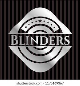 Blinders silvery emblem or badge