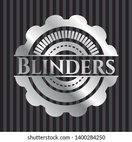 Blinders silvery shiny emblem. Vector Illustration. Mosaic.