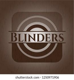Blinders wooden emblem