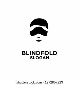 blindfold logo icon designs vector