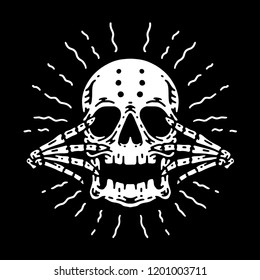 Blinding Skull Vector art