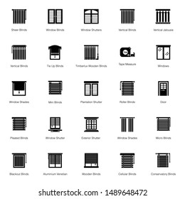 Blinds glyph icons are here containing modern and conceptual vectors to meet your project requirements.
