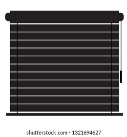 Blinds icon on white background. flat style. window blinds icon for your web site design, logo, app, UI. louvers symbol. jalousie sign.