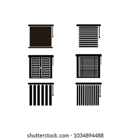 Blinds icon. Vector interiors illustration.
