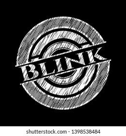 Blink written on a blackboard. Vector Illustration. Detailed.