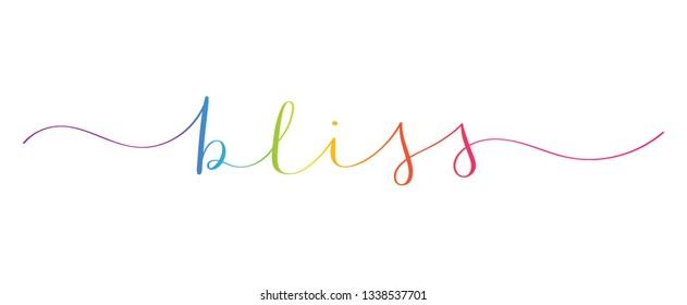 BLISS brush calligraphy banner