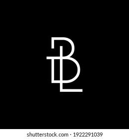 BL,LB letter logo design on luxury background. BL,LB monogram initials letter logo concept. LB,BL icon design. BL,LB elegant and Professional white color letter icon on black background.