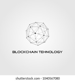 Block chain Logo Template. Technology Vector Design. Crypto currency Illustration